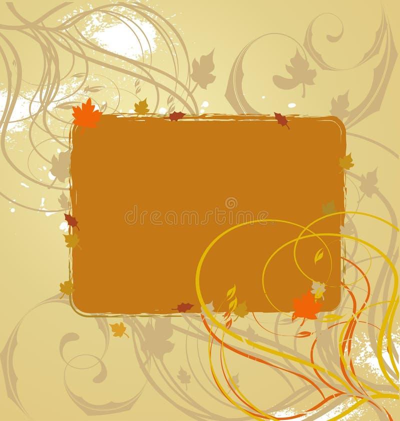 autumn abstrakcyjne banner piękna ilustracja wektor