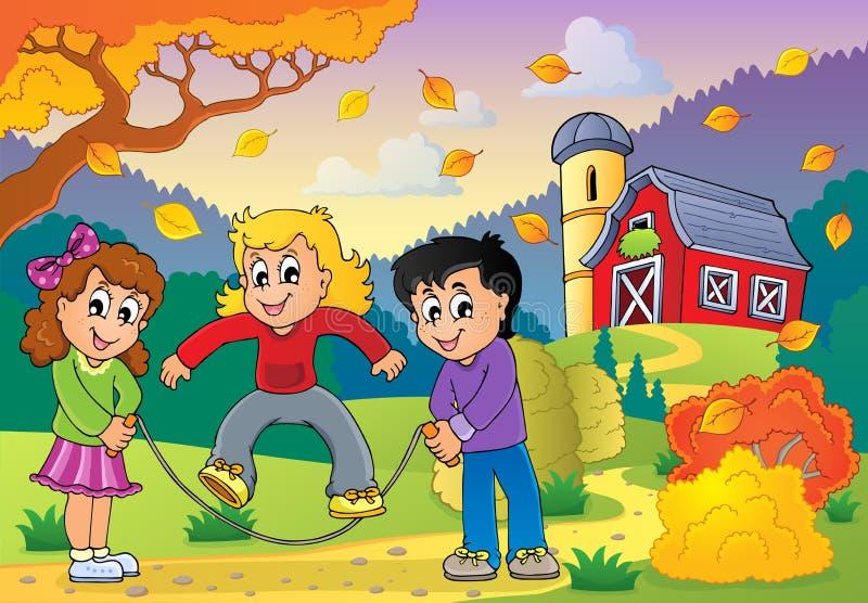 Autumn activity theme 3 royalty free illustration