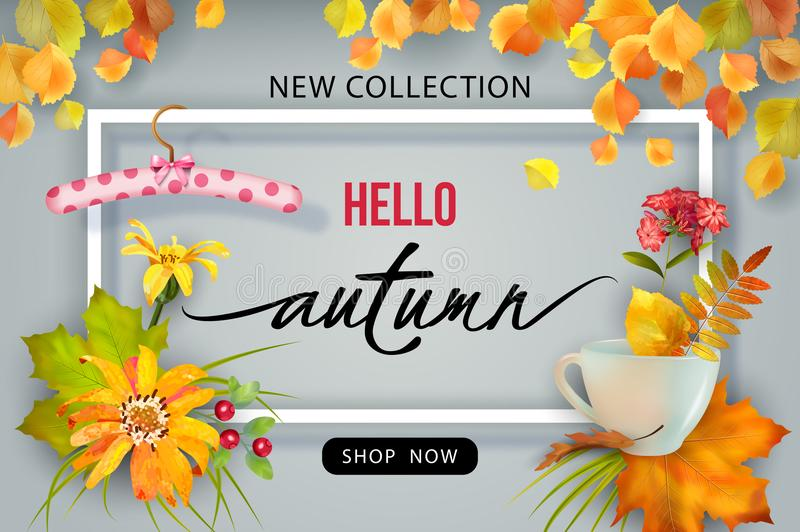 Autumn Advertising Banner libre illustration