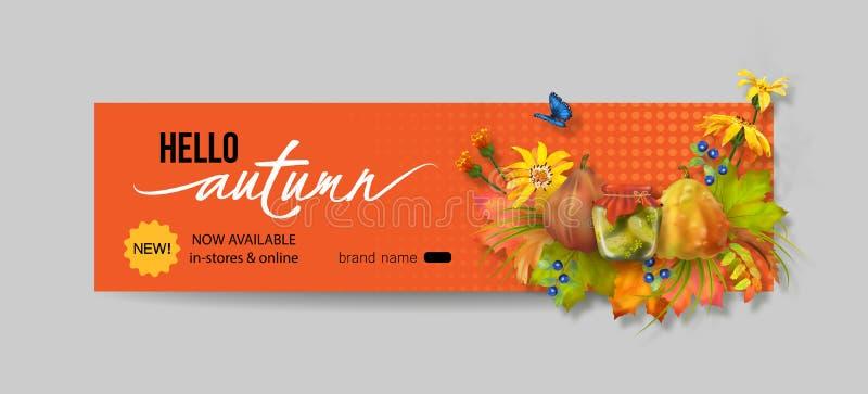 Autumn Advertising Banner illustration libre de droits