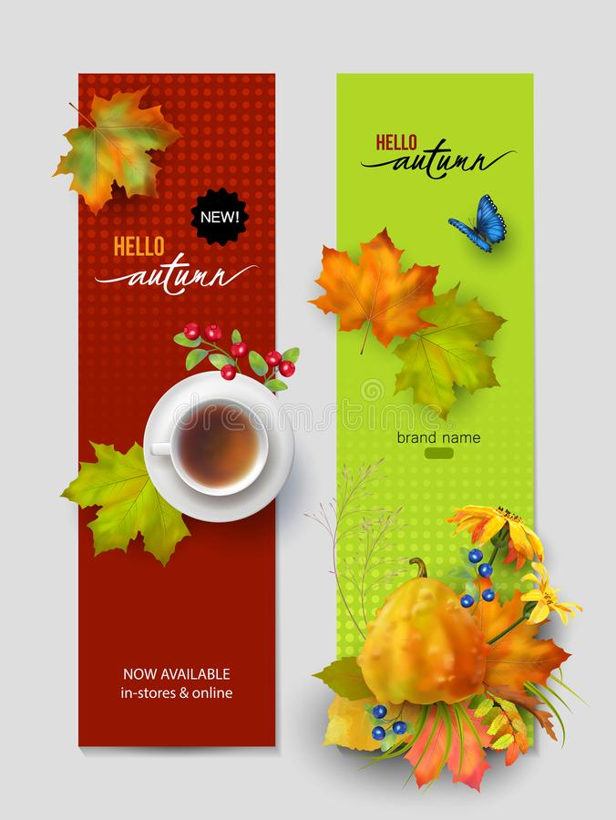 Autumn Advertising Banner stock de ilustración