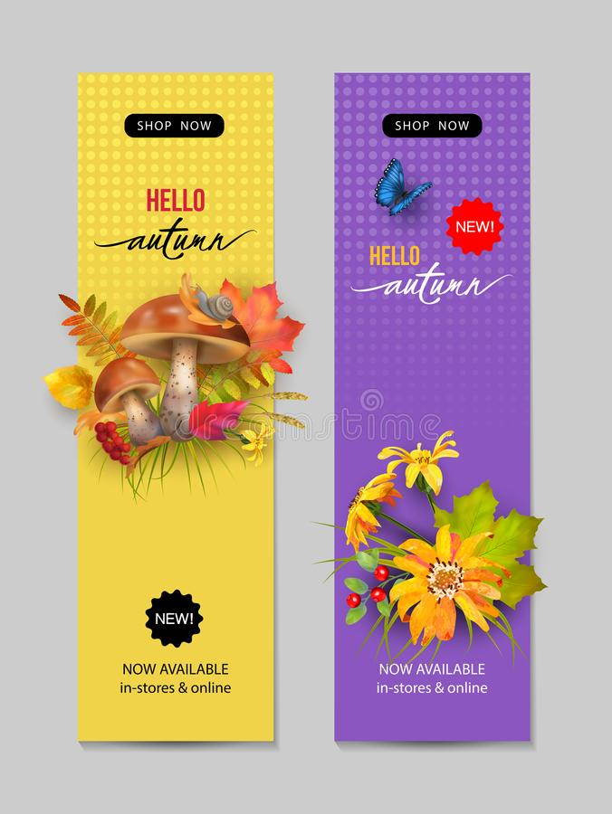 Autumn Advertising Banner illustration de vecteur