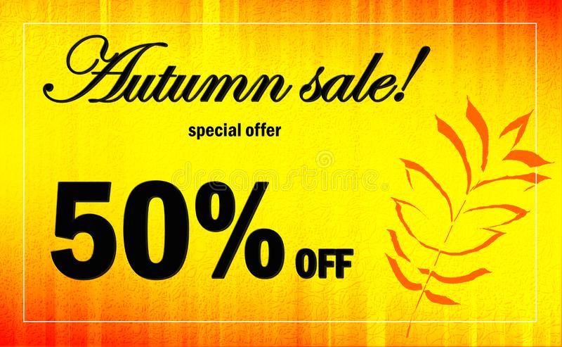 Autumn Advertising Banner ilustración del vector
