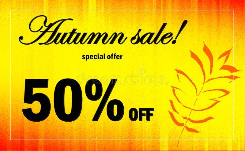 Autumn Advertising Banner vector illustratie