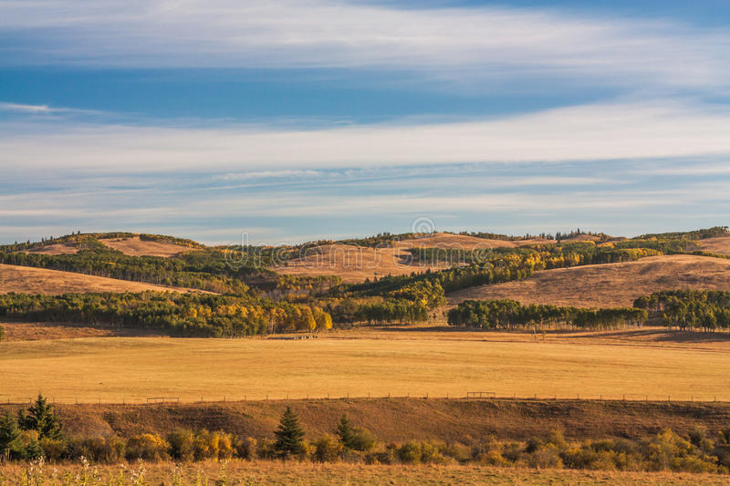 Autumn in the Alberta foothills. Seasonal autumn landscape of the foothills of Alberta, Canada stock images