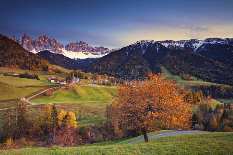 Autumn in Alps. royalty free stock images
