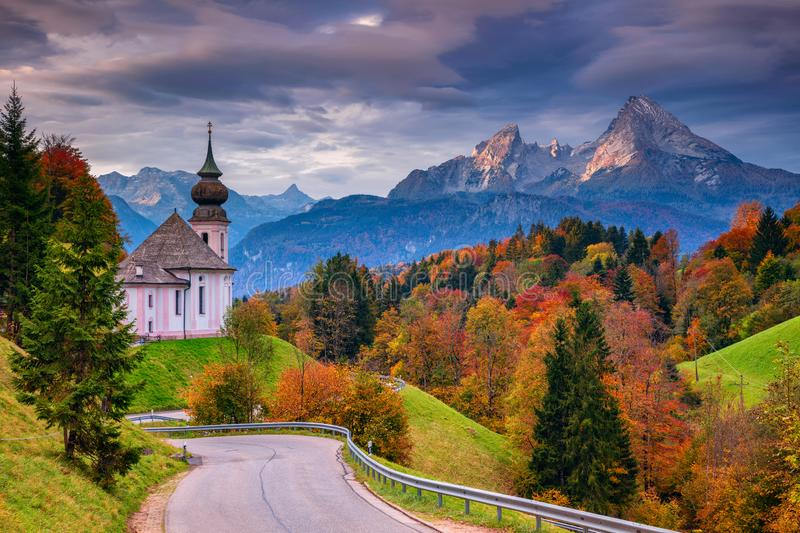 Autumn in Alps. royalty free stock photo