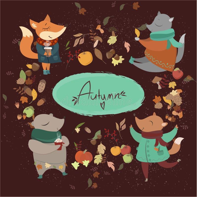 Autumn Animals foto de stock royalty free