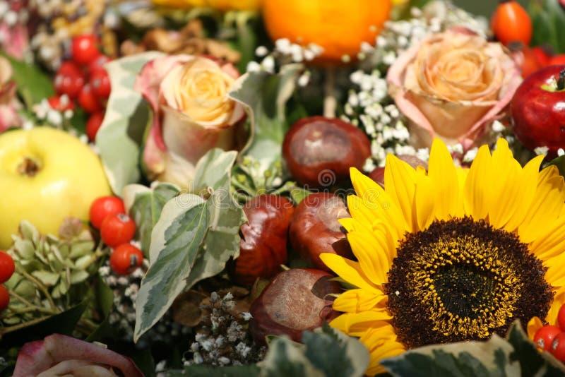 Download Autumn arrangement stock photo. Image of sunflower, fruit - 3287364