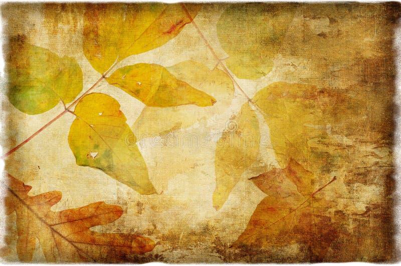 Autumn background. Artistic autumn background in retro style stock photo
