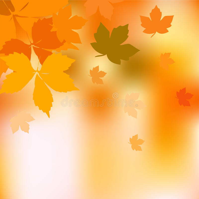 Autumn Background. Autumn colored background with place for your text royalty free illustration