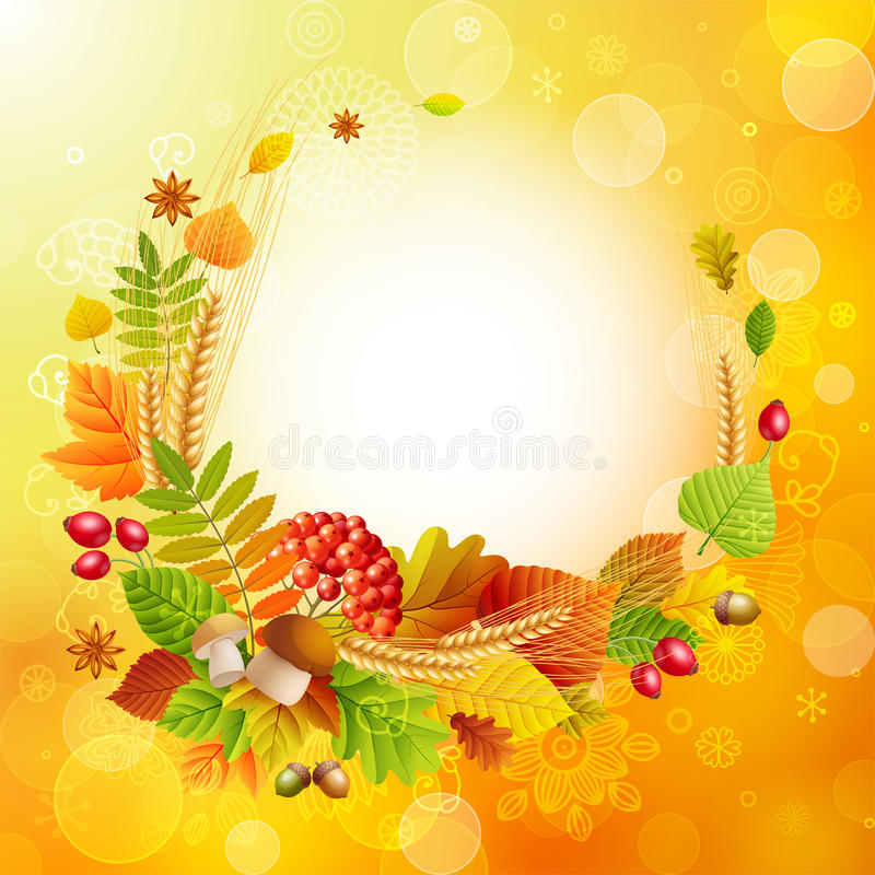 Download Autumn background stock vector. Illustration of berry - 21025734