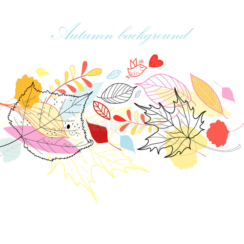 Download Autumn background stock vector. Image of graphics, heart - 25454415
