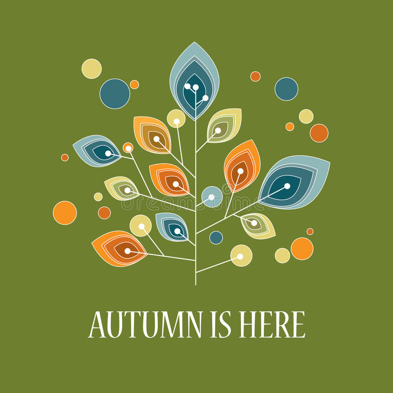 Autumn background with abstract shapes. Foliage vector illustration