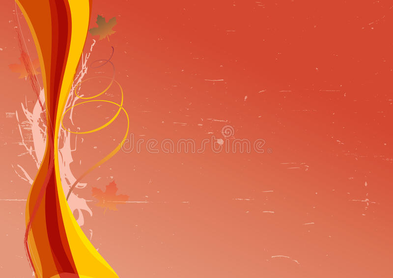 Download Autumn Background With Colorful Waves Stock Illustration - Image: 20753939
