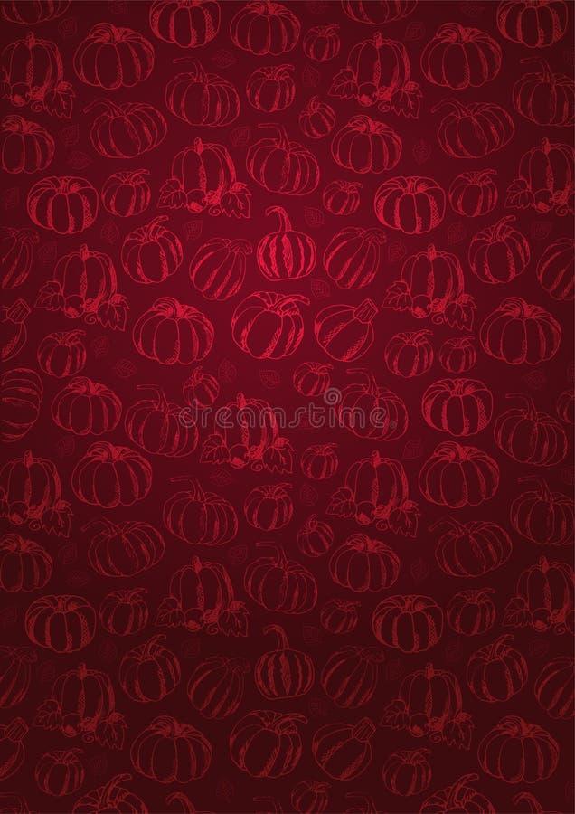Autumn Background con la calabaza para la venta que hace compras, cartel del promo y prospecto del marco, bandera del web Plantil libre illustration