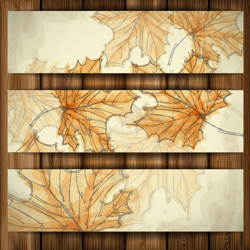 Autumn Background disegnato a mano. royalty illustrazione gratis
