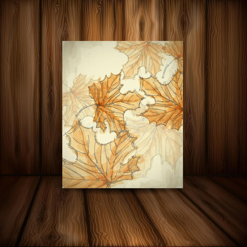 Autumn Background disegnato a mano. illustrazione vettoriale