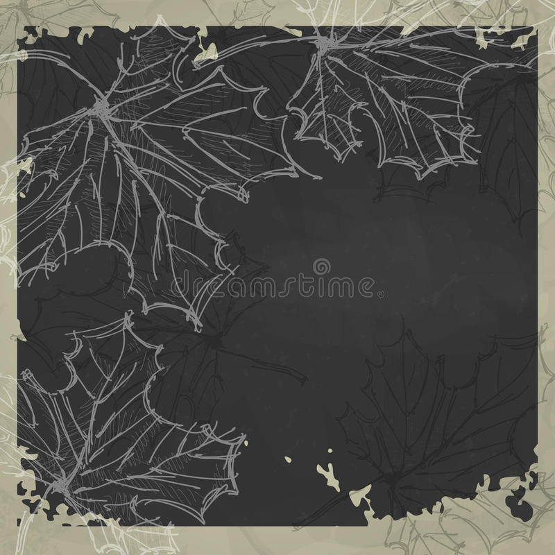 Autumn Background disegnato a mano illustrazione di stock