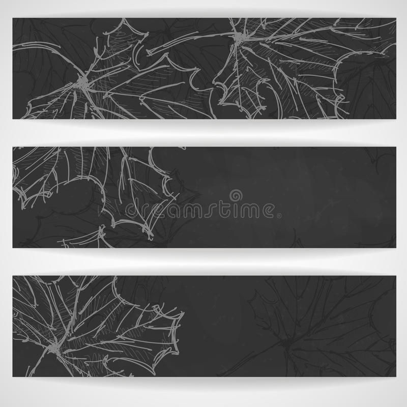 Autumn Background disegnato a mano illustrazione vettoriale