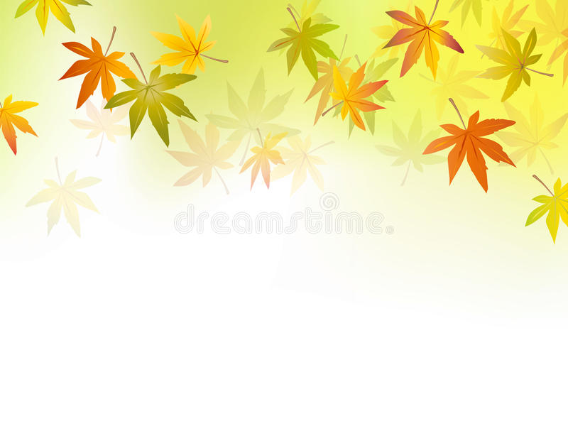 Autumn background - fall leaf vector illustration