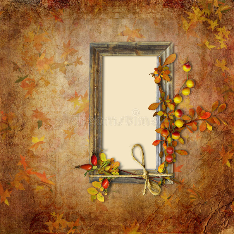 Download Autumn Background With Frame Stock Photo - Image: 28284814