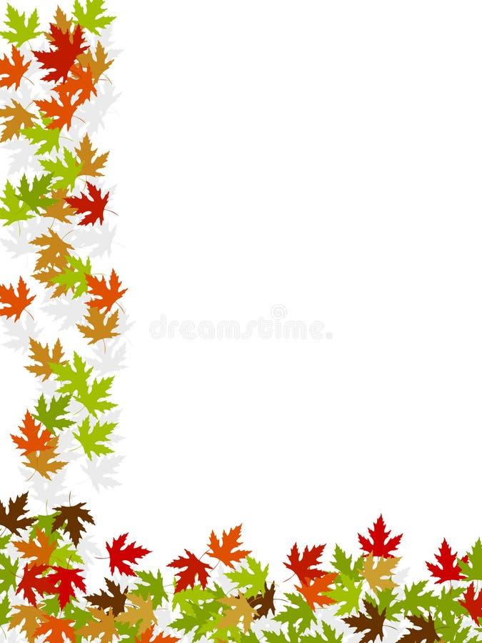 Autumn background frame leafs stock illustration