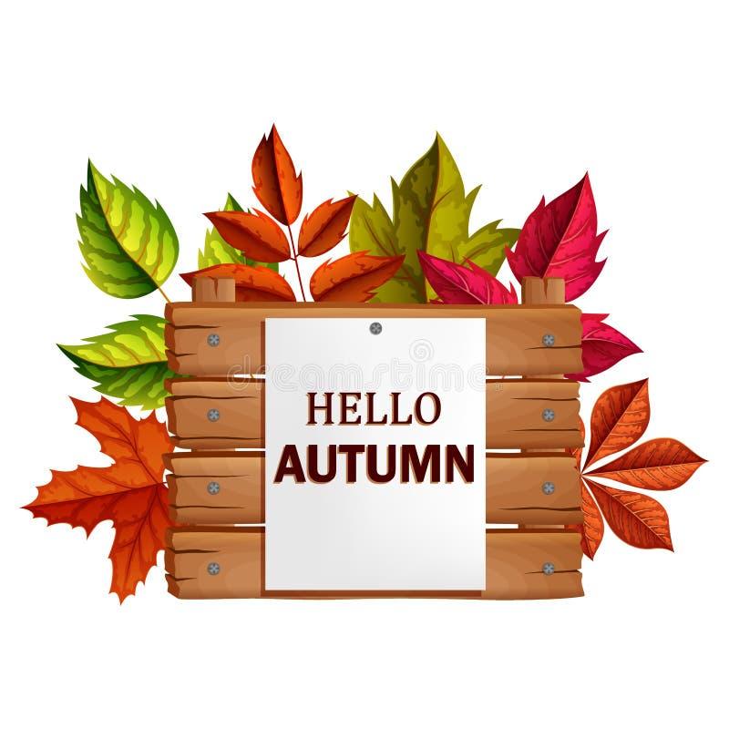 Autumn Background illustration vector illustration
