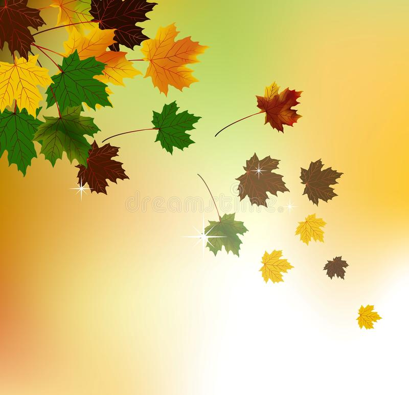 Download Autumn Background With Leaves Stock Illustration - Illustration: 27618393