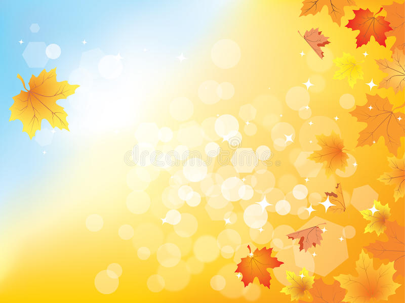Download Autumn Background With Leaves  / Eps10 Stock Vector - Image: 21017845