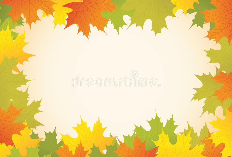 Download Autumn Background With Maple Leaves Stock Vector - Illustration: 20925918