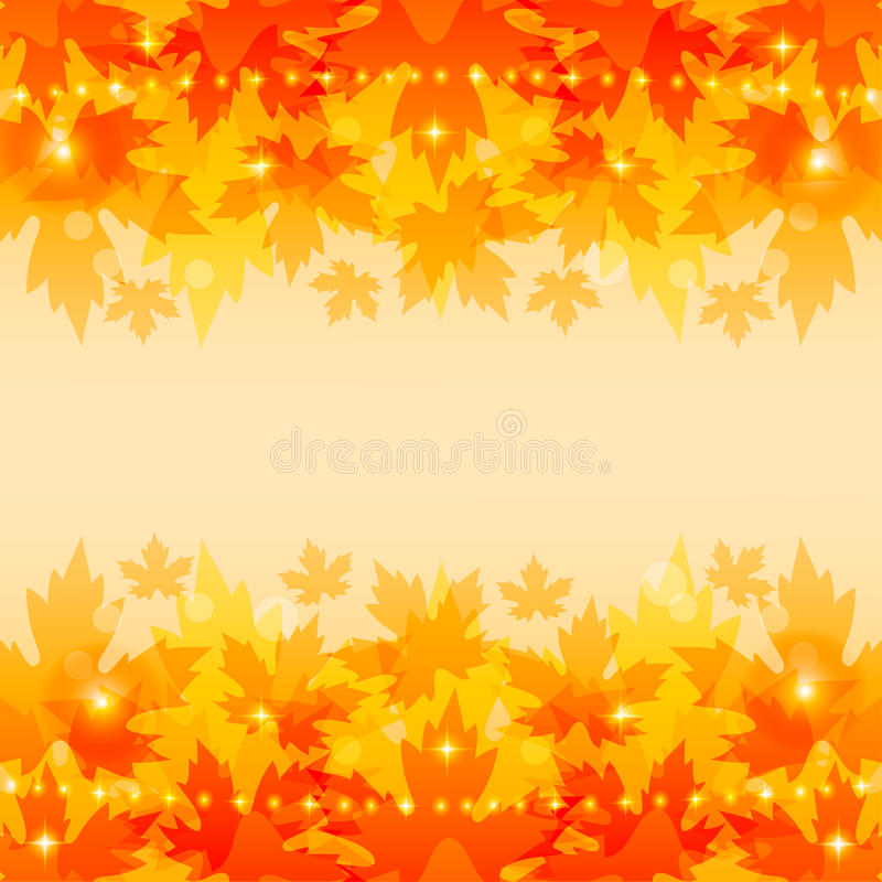 Download Autumn Background With Maple Leaves. Stock Vector - Image: 33250160
