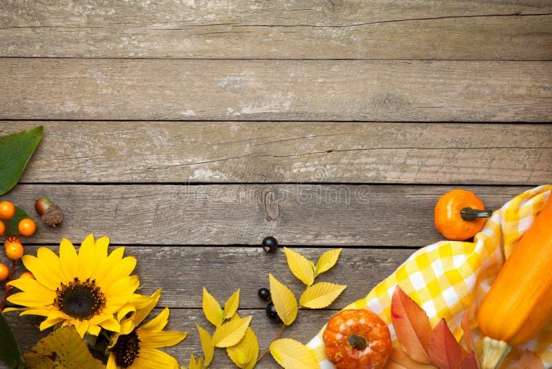 Autumn Background na madeira fotografia de stock royalty free