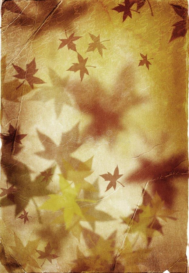 Autumn background in retro style vector illustration