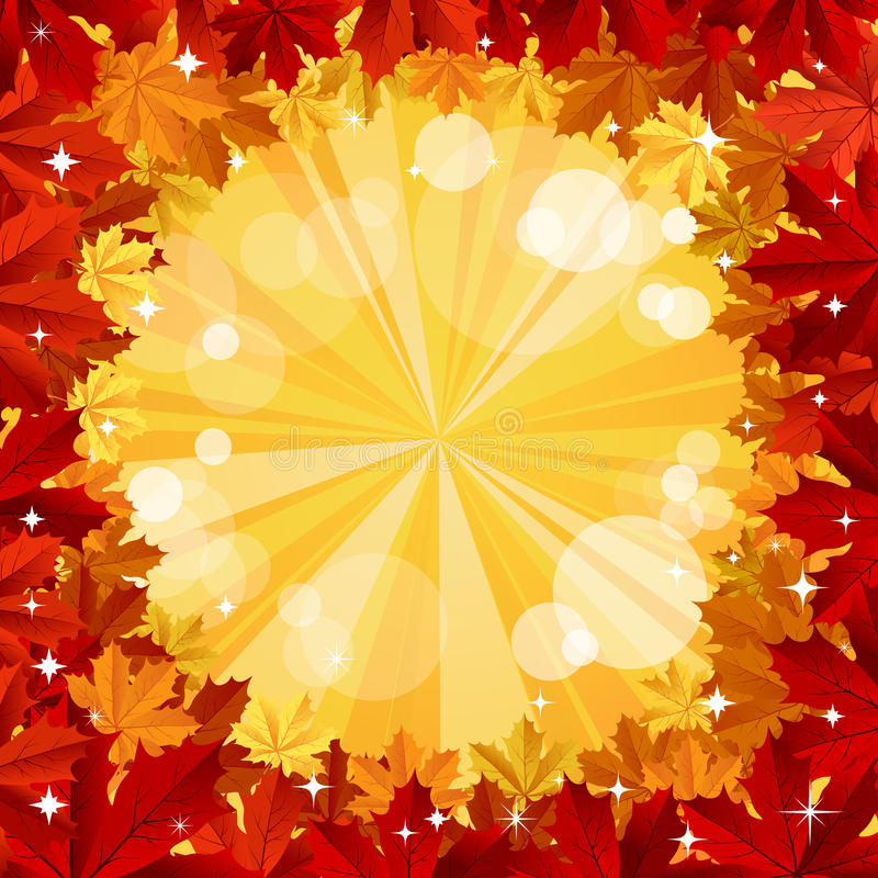 Download Autumn Background With Space For Text Stock Vector - Image: 25899324