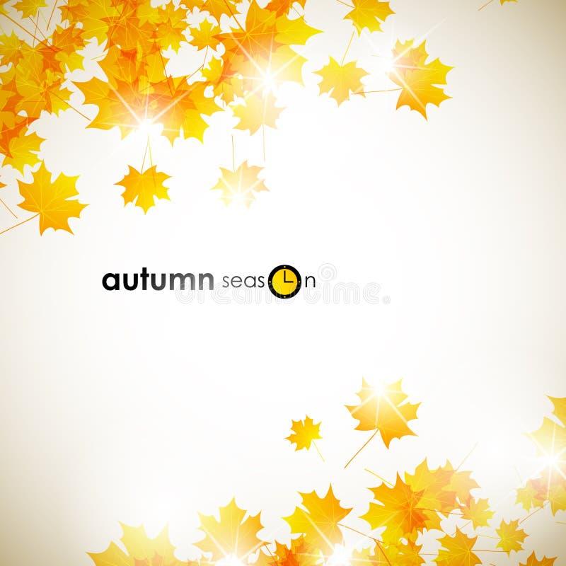 Autumn background. Vector Abstract Illustration royalty free illustration