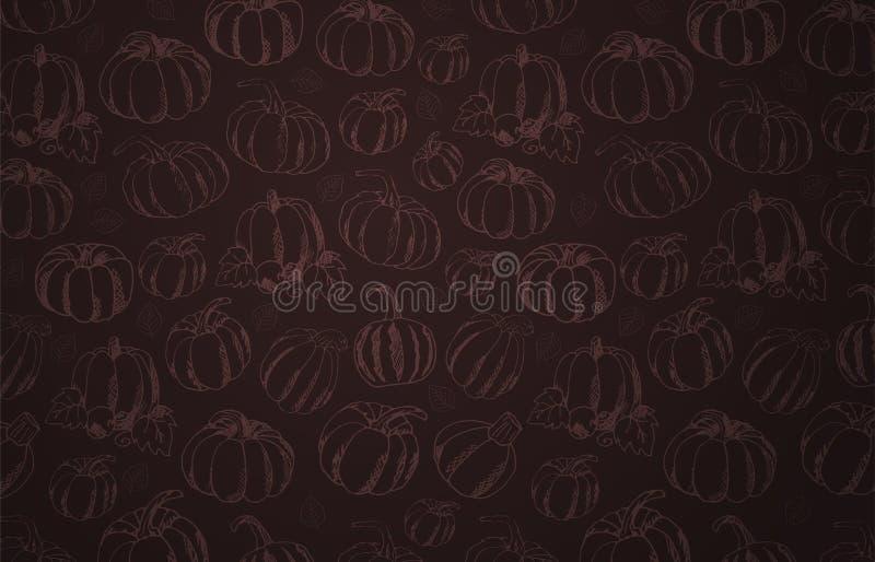 Autumn Backgrounds con la calabaza para la venta que hace compras, cartel del promo y prospecto del marco, bandera del web Planti ilustración del vector