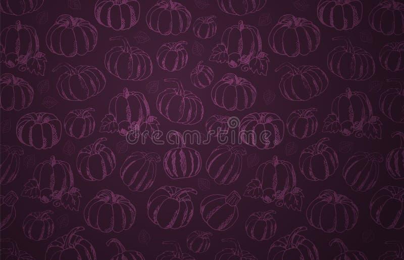 Autumn Backgrounds met Pompoen voor het winkelen verkoop, promoaffiche en kaderpamflet, Webbanner Vectorillustratiemalplaatje royalty-vrije illustratie