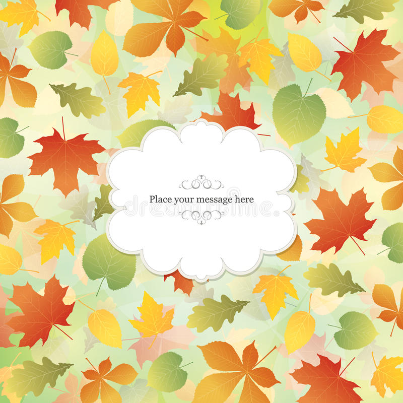 Download Autumn banner stock vector. Image of bright, banner, environment - 25911887