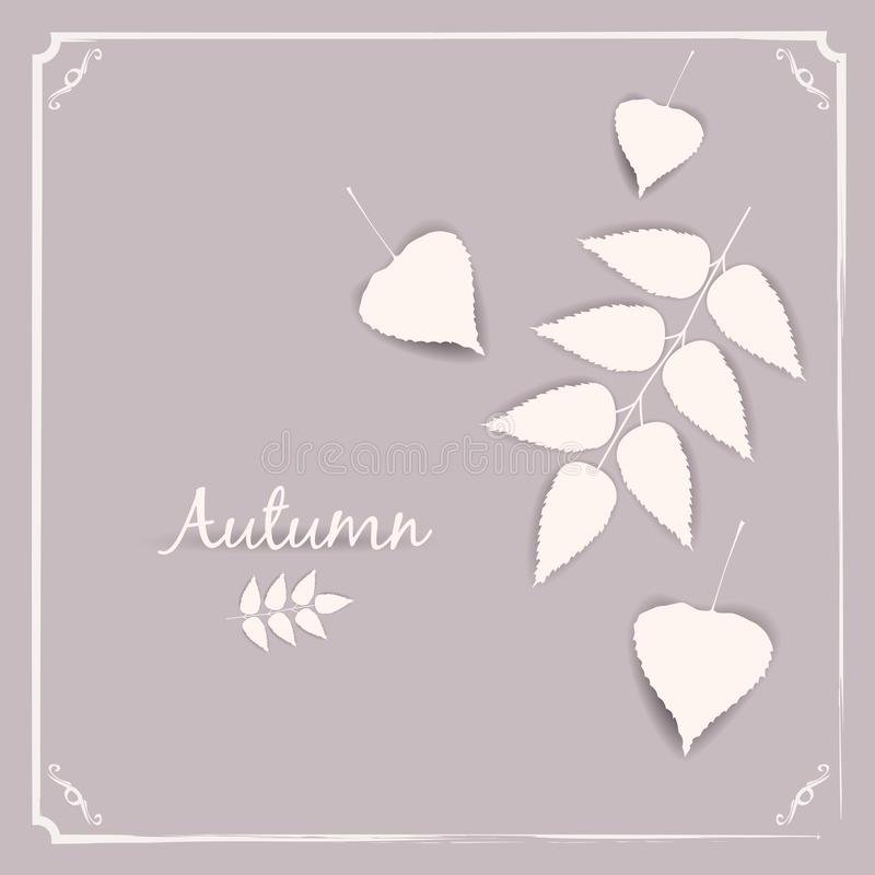 Autumn banner background with paper fall leaves, temlate, vector, illustration, isolated. Autumn banner background with paper fall leaves, temlate, vector stock illustration
