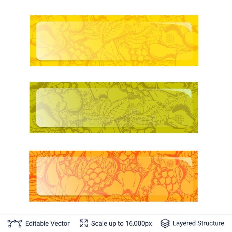 Download Autumn Banner Template ilustración del vector. Ilustración de icono - 100525008
