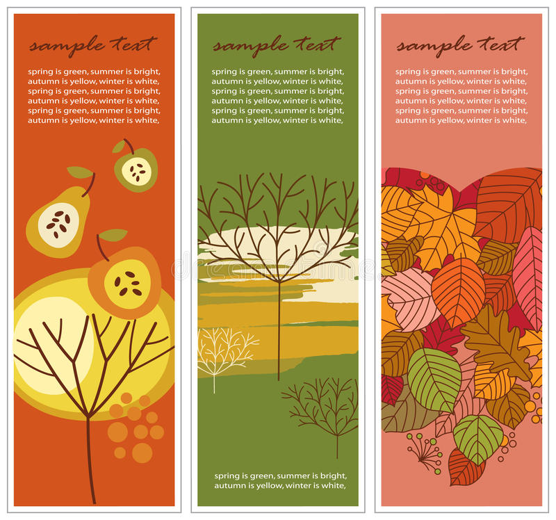 Download Autumn banners stock vector. Image of crop, emblem, abstract - 11371618