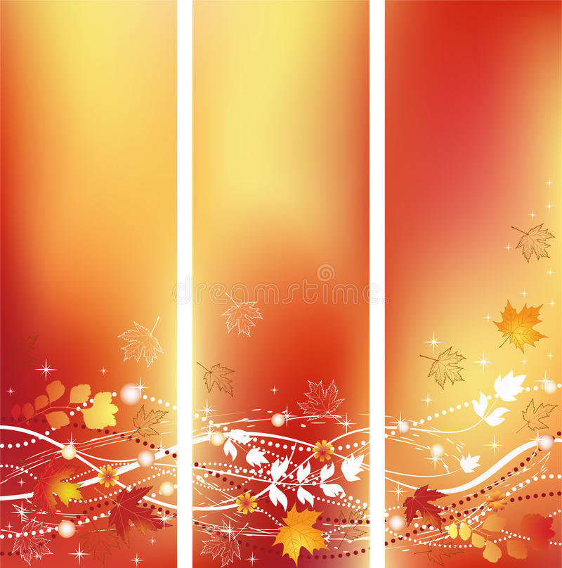 Download Autumn banners. stock vector. Image of image, season - 21161246