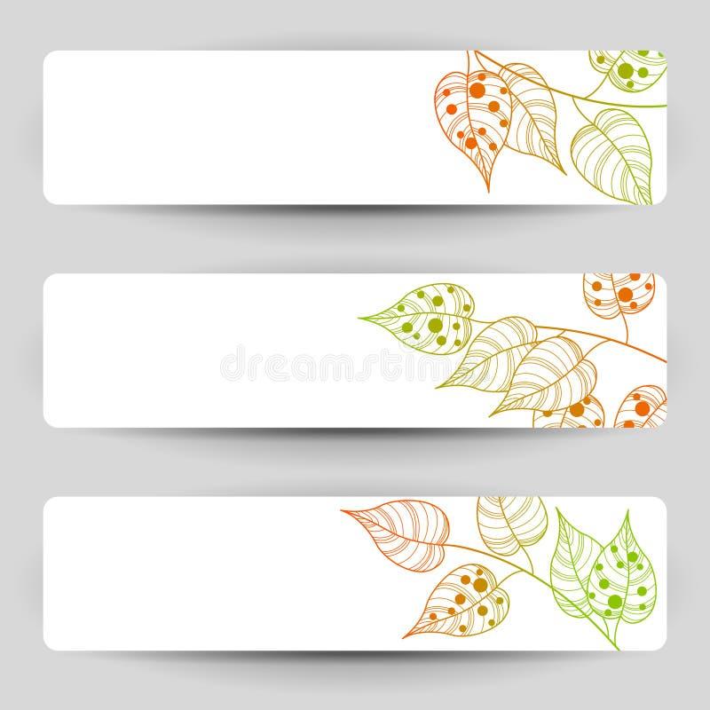 Autumn Banners stock illustratie