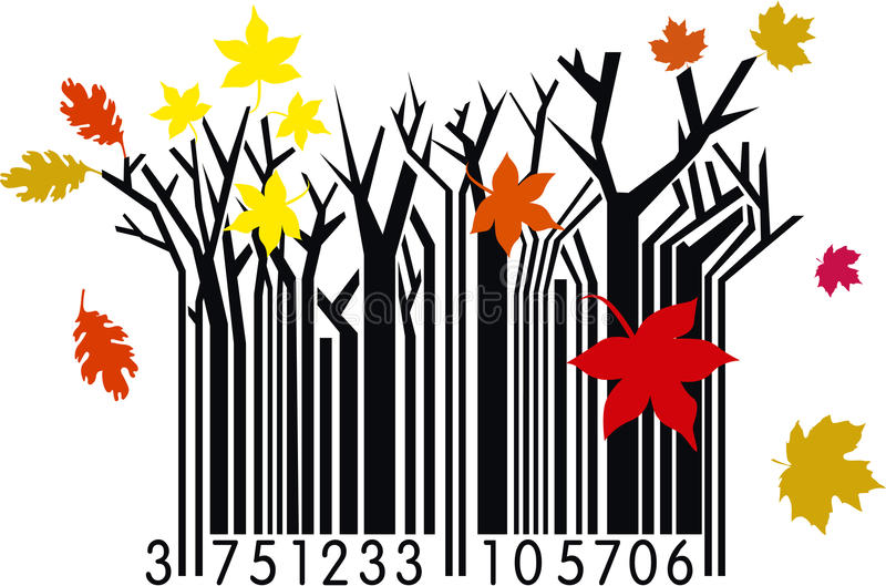 Download Autumn Barcode stock vector. Illustration of commercial - 19286770