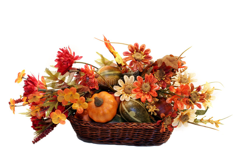 Download Autumn Basket stock photo. Image of gold, holiday, wicker - 3147910