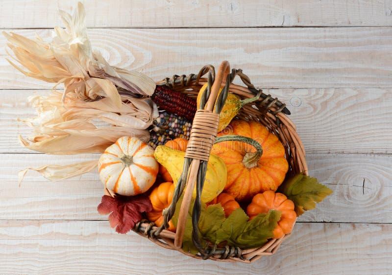Autumn Basket Still Life stockbilder