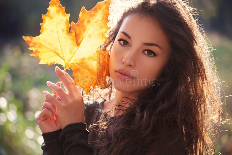 Autumn beauty portrait stock images
