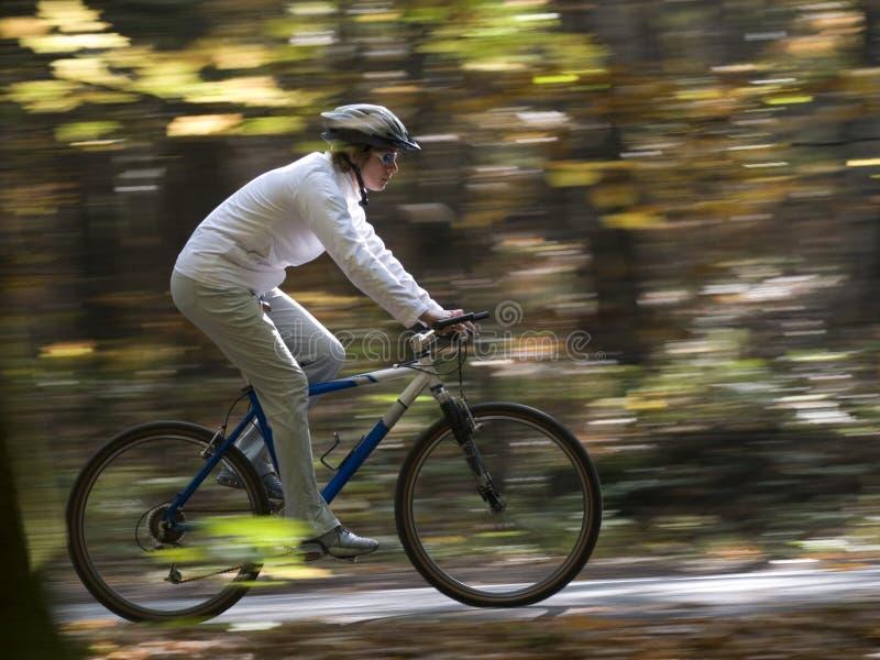 Autumn bike riding royalty free stock photography