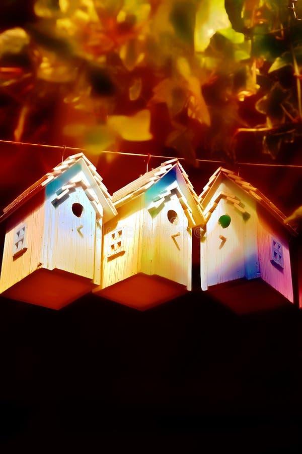 Autumn Bird Houses Stock Photos